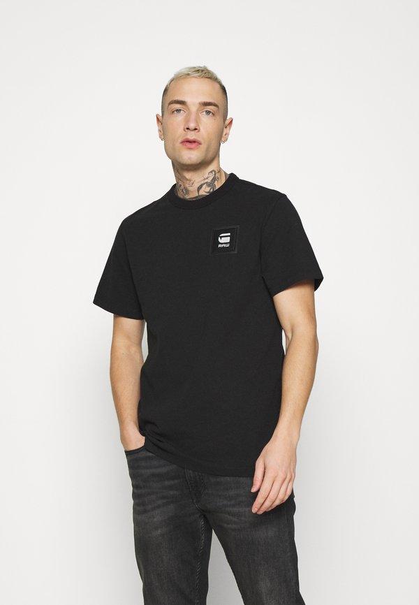 G-Star BADGE LOGO - T-shirt z nadrukiem - black/czarny Odzież Męska VPKO