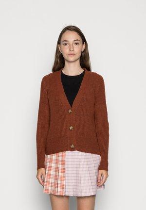 NORA SHORT - Cardigan - brown melange