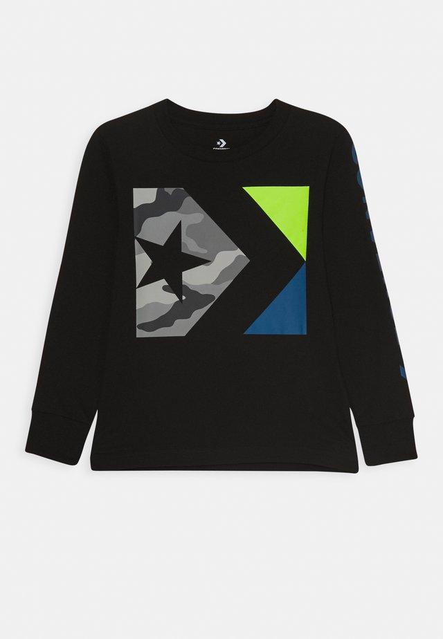 WORDMARK CAMO TEE - Bluzka z długim rękawem - black