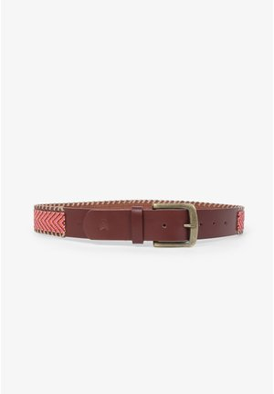 WITH STONES - Braided belt - coral