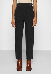 Gestuz - DANNIGZ - Straight leg jeans - dark black wash - 0