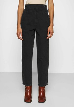 DANNIGZ - Jeans straight leg - dark black wash