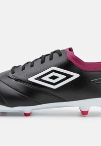 Umbro - TOCCO PREMIER FG - Moulded stud football boots - black/white/raspberry radiance/pink peacock - 5