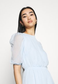 Missguided - PUFF SLEEVE SKATER DRESS - Day dress - baby blue - 4