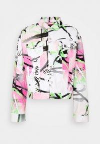 Jaded London - SPRAY PAINT GRAFFITI - Denim jacket - white - 0