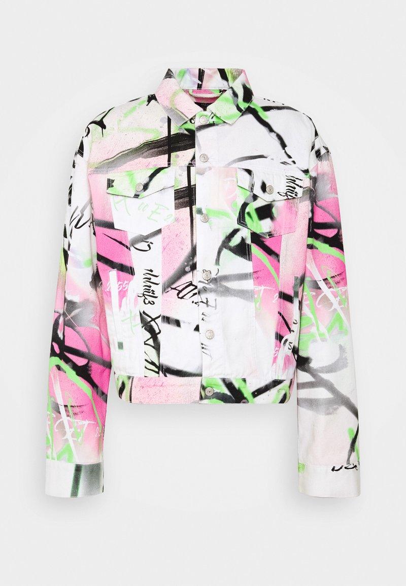 Jaded London - SPRAY PAINT GRAFFITI - Denim jacket - white