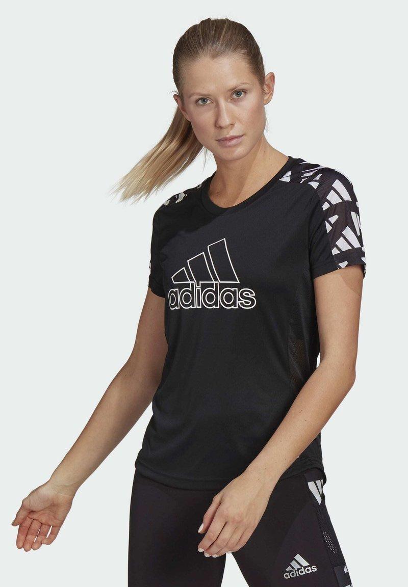 adidas Performance - OWN THE RUN CELEBRATION T-SHIRT - Print T-shirt - black