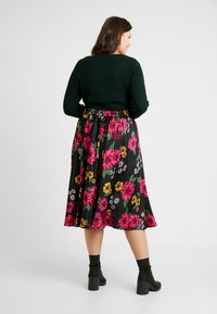 CAPSULE by Simply Be - PRINTED PROM SKIRT - A-line skirt - black/pink - 2