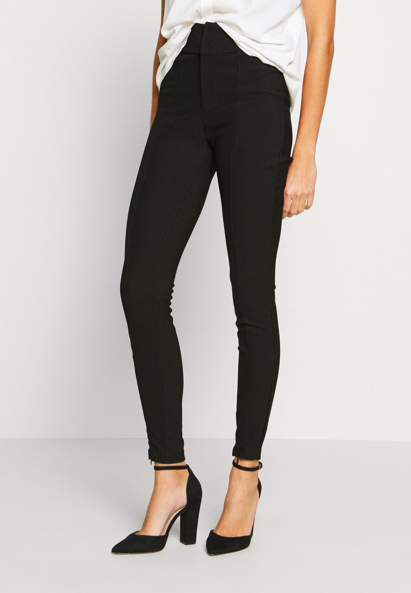 Noisy May - NMMEDLEY SLIM PANT - Legginsy - black