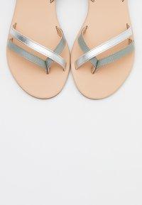 Anna Field - LEATHER - Sandalias de dedo - mint/silver - 5