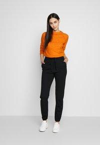 ONLY Tall - ONLPOPTRASH BELT PANT - Trousers - black - 1