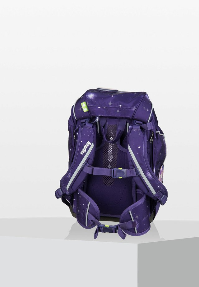 School bag - mottled purple