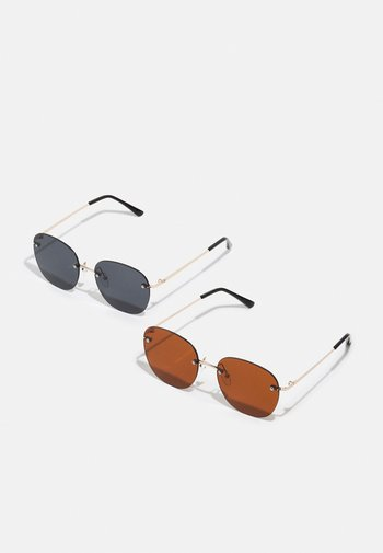 ONSSUNGLASSES 2 PACK UNISEX - Sunglasses - black/brown