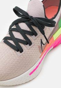Nike Performance - REACT INFINITY RUN FK PRM - Neutral running shoes - violet ash/dark smoke grey/pink blast - 5
