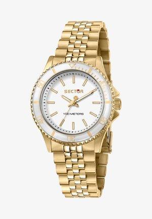 Horloge - gelbgold/weißmatt