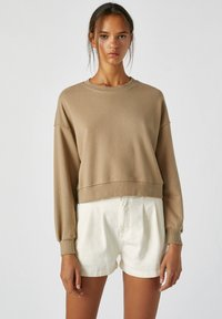 PULL&BEAR - Sweatshirts - mottled light brown - 0