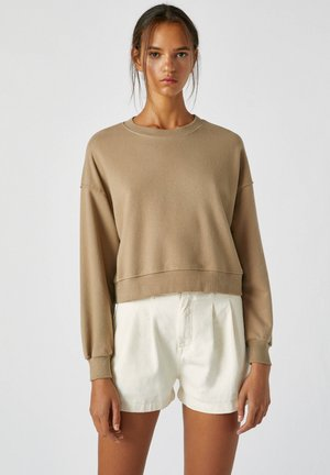 Sweatshirt - mottled light brown