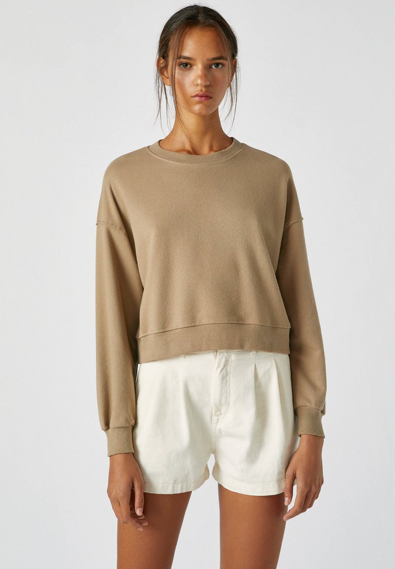 PULL&BEAR - Sweatshirts - mottled light brown