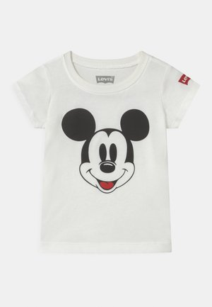 MICKEY MOUSE FACE - T-shirt z nadrukiem - white