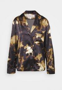 Alexa Chung - PYJAMA - Pyjama top - black/brown - 4