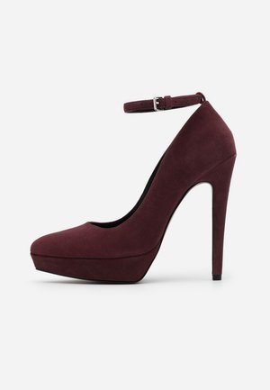 LEATHER - High heels - bordeaux