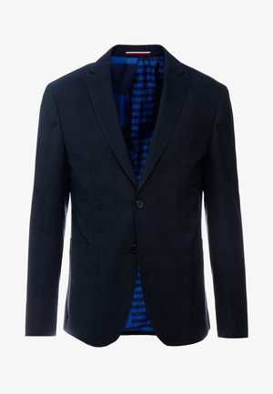 SLIM FIT CHECK FLEX BLAZER - Suit jacket - blue