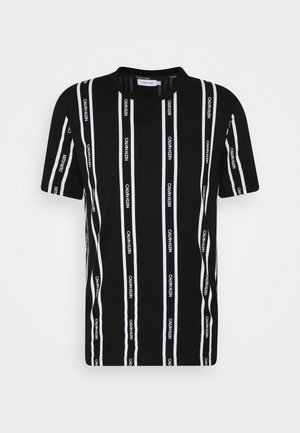 VERTICAL LOGO STRIPE - T-shirts print - black