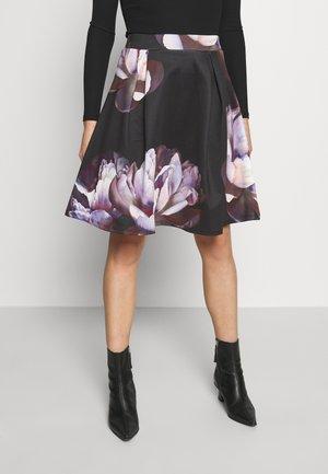 A-line skirt - dark floral