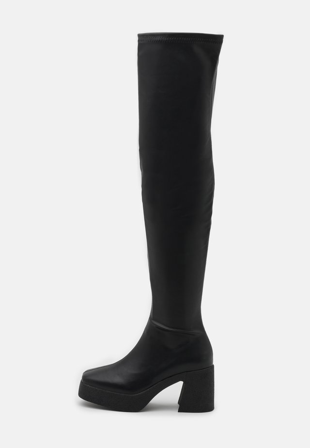 ZAZA PLATFORM BOOT - Over-the-knee boots - black smooth