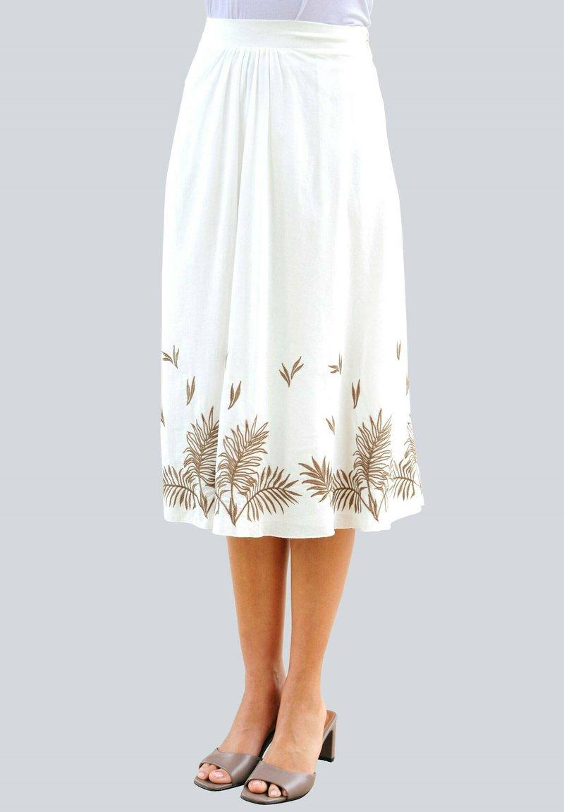 Alba Moda - A-line skirt - weiß haselnuss