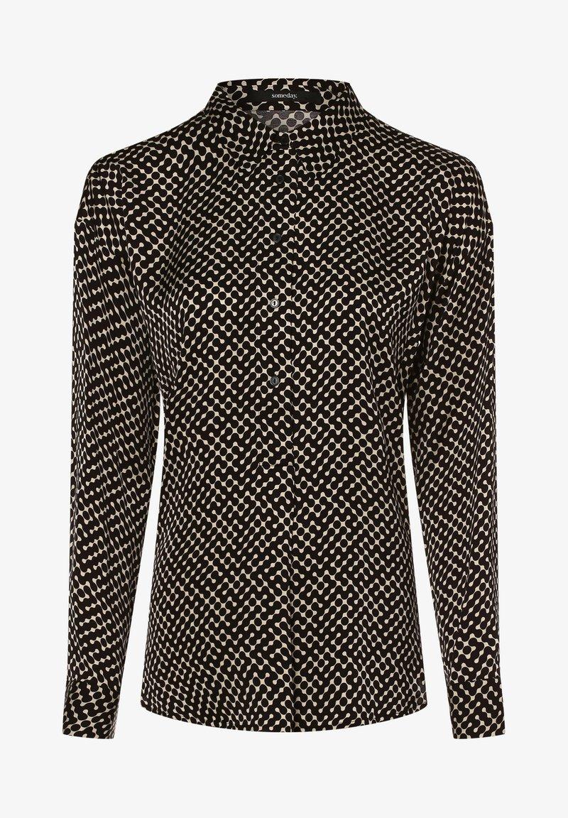 someday. - Button-down blouse - schwarz ecru