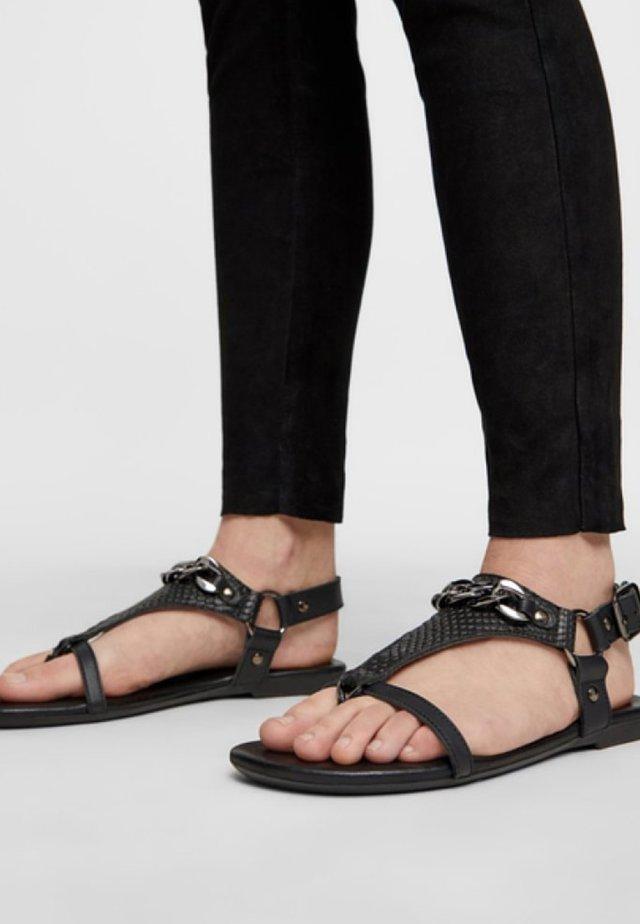 BECCA - Sandaalit nilkkaremmillä - black
