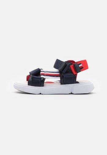 Sandals - blue/white