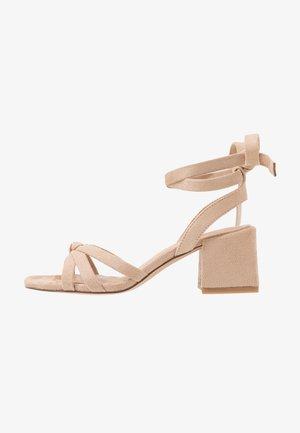 ANKLE STRAP HEELS - Sandals - beige