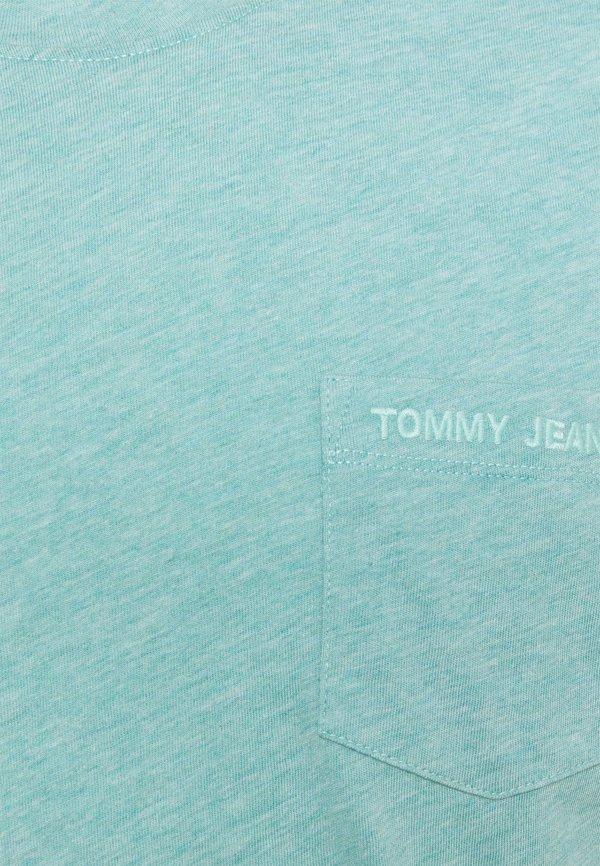 Tommy Jeans SMALL LOGO POCKET TEE - T-shirt basic - blue/turkusowy Odzież Męska HZHE