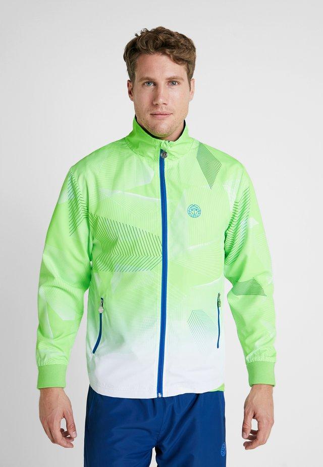 JARON TECH TRACKSUIT - Chándal - neon green/white/blue
