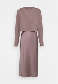 AllSaints - BENNO TEE DRESS SET - Long sleeved top - taupe - 4