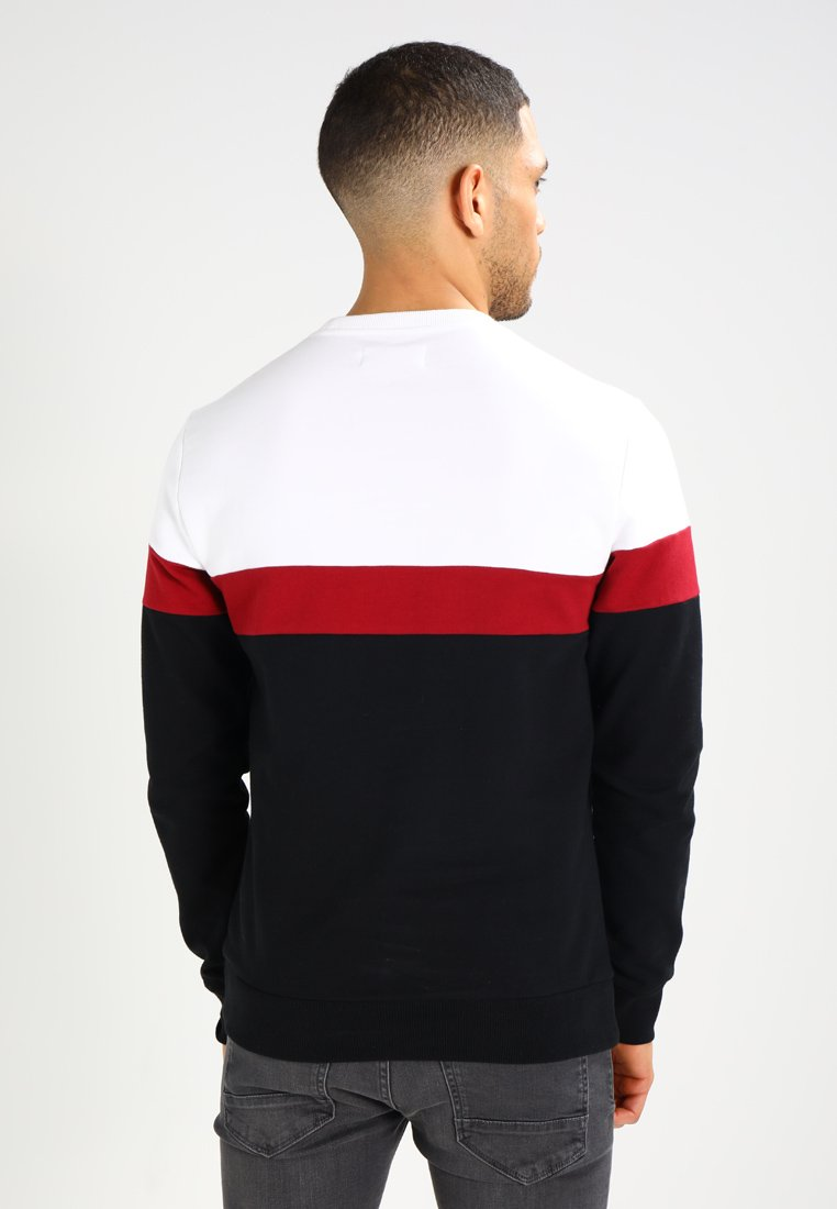 Pier One Sweatshirt - white/black/weiß Qat85Q