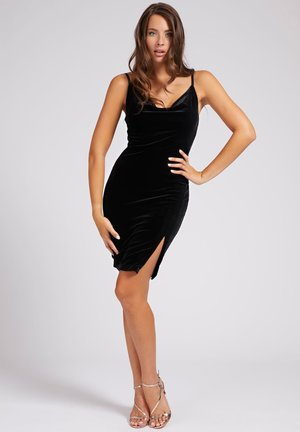 ZIJSPLIT - Cocktail dress / Party dress - zwart