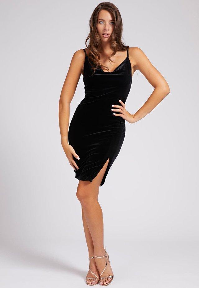 ZIJSPLIT - Cocktailkleid/festliches Kleid - zwart