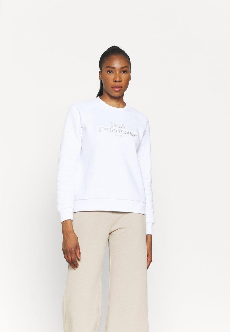 Peak Performance - ORIGINAL CREW - Sweatshirt - white