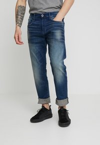 G-Star - 3301 STRAIGHT FIT - Straight leg jeans - joane stretch denim - worker blue faded - 0