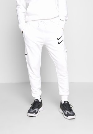 M NSW PANT FT - Träningsbyxor - white/black