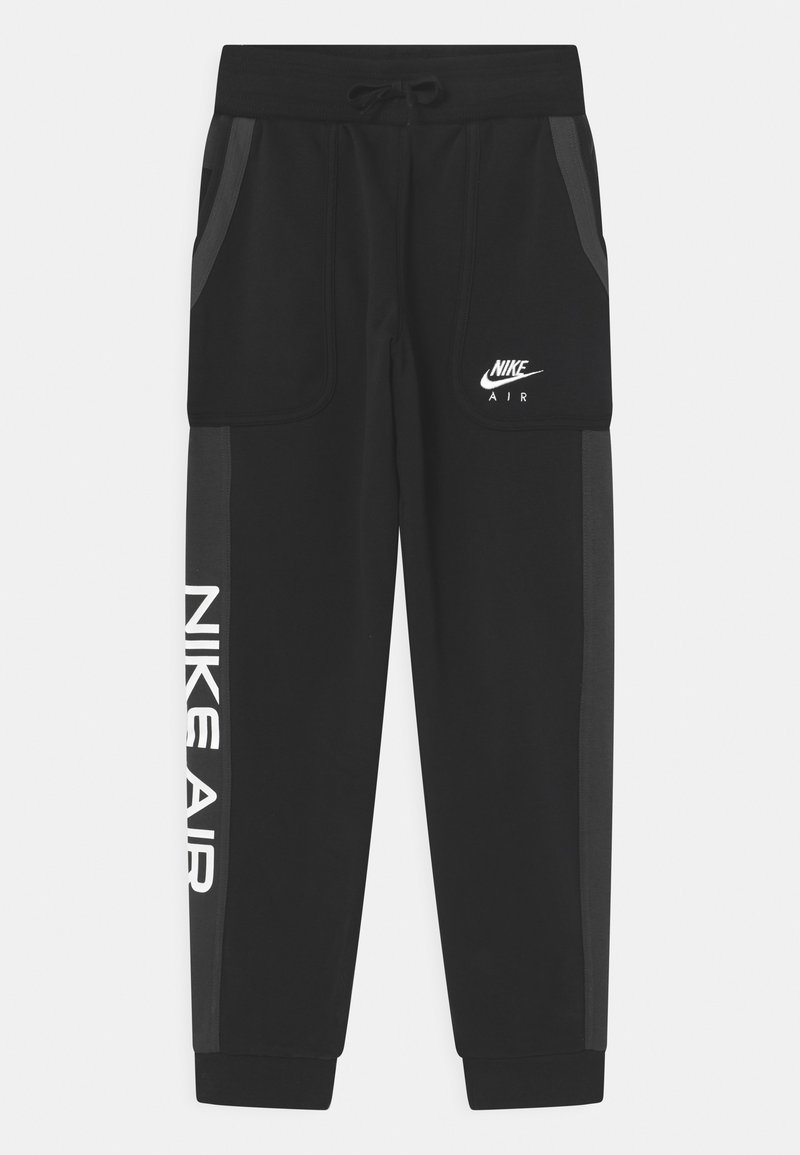Nike Sportswear - AIR - Tracksuit bottoms - black/dark smoke grey