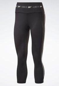 Reebok - LES MILLS® HIGH-RISE 3/4 LEGGINGS - 3/4 sports trousers - black - 7