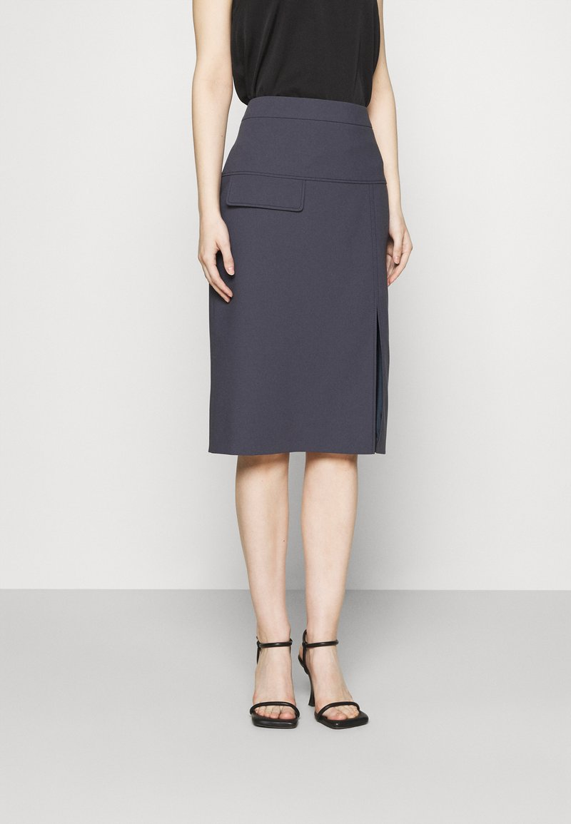 HUGO - RASUSA - Pencil skirt - dark blue
