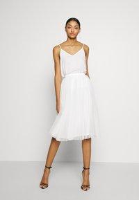 Lace & Beads - VAL SKIRT - A-line skjørt - white - 1