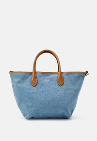 Polo Ralph Lauren - OPEN TOTE - Handbag - light blue/cuoio - 2