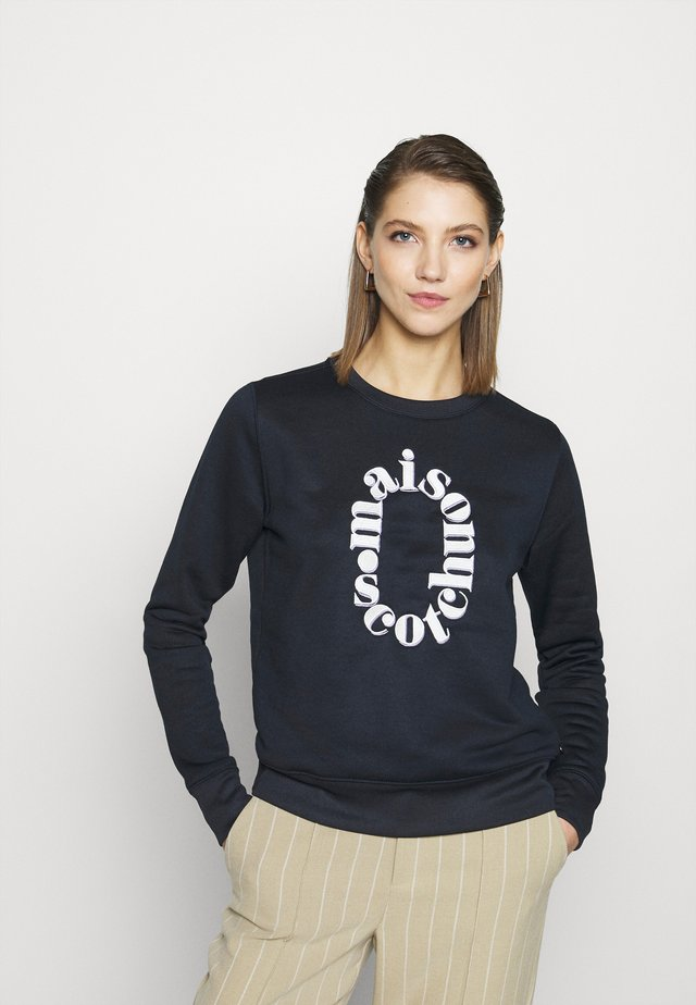 REGULAR FIT CREWNECK WITH ARTWORKS - Bluza - night