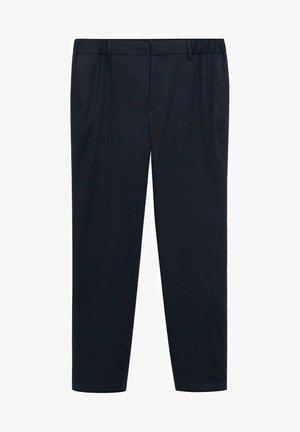 SLIM FIT - Trousers - dunkles marineblau